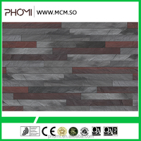 Fire rated flexible modified clay material breathability durability decorative wall cladding texture panel