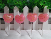 Pink Heart Shaped Candles