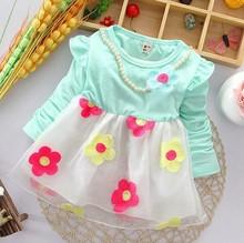 Birthday tutu dress for kids baby girl flower dress for party wear