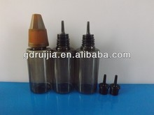 Black color 10ml PET plastic bottle with sharp childproof cap