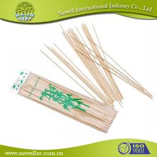 2015 del precio bajo 2014 new bamboo forma del arma palitos de barbacoa de coctel que adorna con palos de bambú