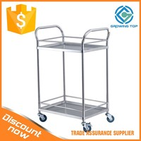 Hospital Stainless Steel dressing cart with two Shelves