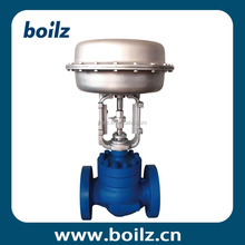 Flange single seated cage type membrane control valve