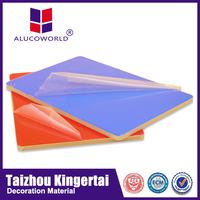 Alucoworld waterproof shower wall panels construction materials price list of advertising aluminum composite sign