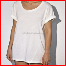 Blank scoop neck t shirts wholesale