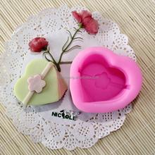 H0002 Nicole Heart Shaped Silicone Soap Molds Custom Mold