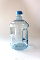 PC new material 5 litre 1.5 gallon plastic drinking water bottle with handle