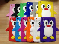 "Cute Penguin Silicone Soft Case Cover Skin for Apple Ipad MINI 7""tablet"