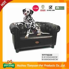 Luxury High End Black Pu Leather Pet Sofa