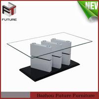 living room furniture simple design wood MDF lion coffee table