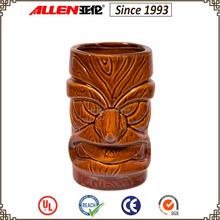 """5.2"""" ceramic tiki mug, personalized tiki ceramic beer mug"""