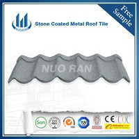 Nuoran 1.2m synthetic spanish steel slate glazed roof tile