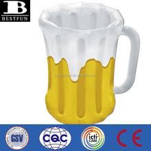 promotional inflatable beer mug cooler soft portable mug cooler plastic used foldable cup shape beer cooler mug bucket
