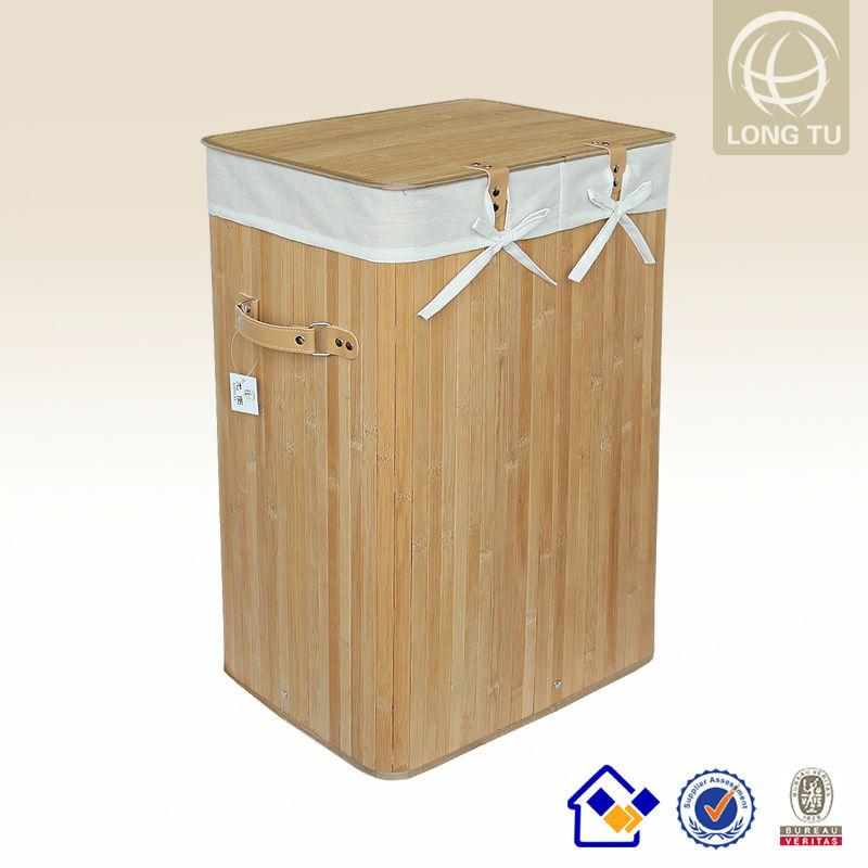 Antique dobr vel recipiente de roupa suja bambu cesta de - Cesto para ropa sucia ikea ...