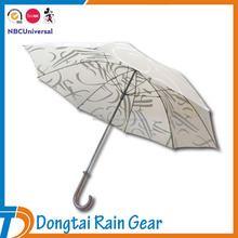 27 Inch Manual Open Golf Umbrella with Pongee Fabric and Fiberglass Frame