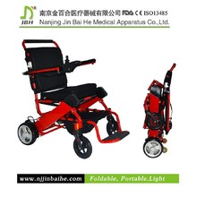 Folded lightweight adult electric mobility scooter