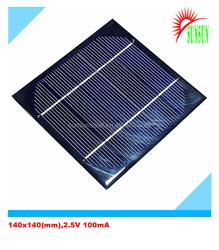 PET laminated 140x140 2.5V 1000mA solar panel