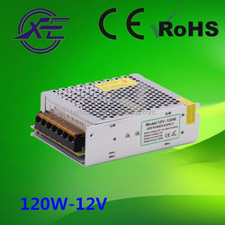 Shenzhen factory price IP20 100-264vac to 12vdc power supply, 120w led strip driver