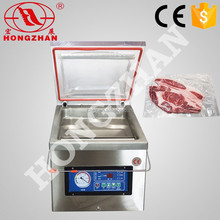 Price for hongzhan DZ300 300mm stianless steel single chamber fruit and vegetable frozen vegetable vacuum packing machine