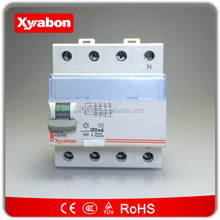 three phase 300ma 4 pole 63a dx residual current circuit breaker