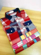dos bolsillos con solapas camisas <span class=keywords><strong>de</strong></span> cuadros para las mujeres