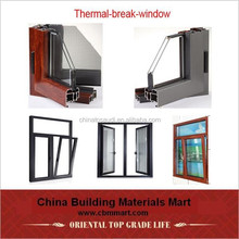 Fashion design Aluminum wood composite door and window