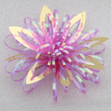 """HOT SALE! 3.5"""" Glossy Iridescent / Rainbow Fireworks Flowers for Gift Wrapping Decorations"""
