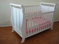 Wood Single Cot Bed/Sleigh Cot Bed/Baby Cots