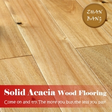 cheap finished Large leaf Acacia Smooth Solid hardwood Flooring/solid dance wood flooring