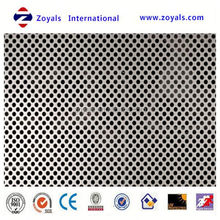 hot-selling low price factory hexagonal holes aluminum perforated metal mesh (ISO9001 factory)