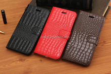 PU leather for iphone 6 cover cases , crocodile leather mobile phone case for iphone 6