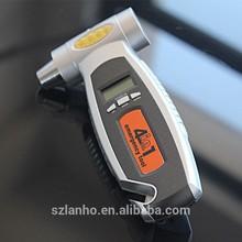 4 in1 Car safety hammer car tire pressure gauge life-saving emergency hammer