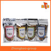 Custom printed ziplock bag with design for food packaging