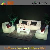 2016 new designed! fashion LED Plastic Furniture , led sofa lighted