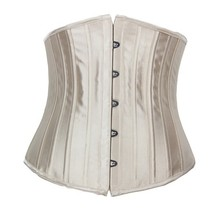 2015 High quality WomenSexy Satin Bustier Waist Trainer Cincher Underbust Corset Body Shaper with lowest wholesale price #U24G