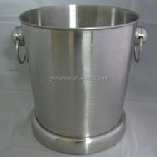 stainless steel big water container with handle and stand