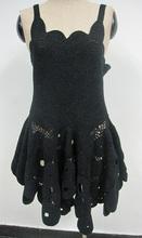 crochet vestido de noche backless atractivo del algodón elegante