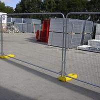 Round Top Anti Climb Heras Temporary Fencing Panel