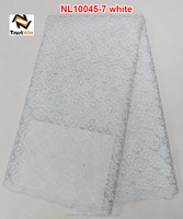 White french lace curtain net lace NL10045