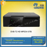 free to air hd tv receiver for dvb-t2 standard with good quality set top box