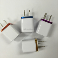 Universal colorful USB wall charger dual USB travel home charger for Iphone/Ipad/HTC/Samsung/Blackberry