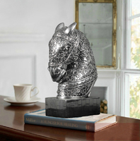 Home decorative animal sculpture resin horse head