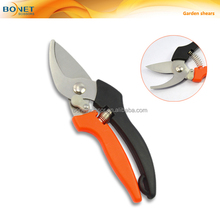 "SGA0011 8"" sharp cutting edge and curve blade garden bypass floral scissors shears"