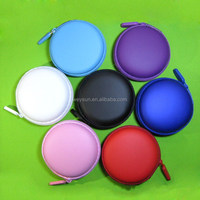 100pcs zipper case,Earphone Headphone Earbud Carrying Storage Bag Pouch Hard Case For Coin Key DHL Freeshipping