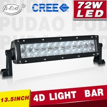 12 volt led light bar truck accessories 13.5inch 72w led bar light