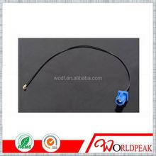 Fakra c crimp plug connector Blue to U.FL (Ipex) GPS antenna