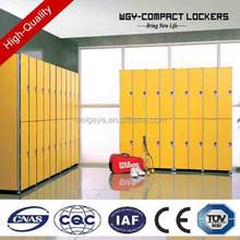 yellow swimming pool/gym center compact laminate compact hpl locker