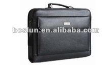 2012 men's top layer genuine leather briefcase leather laptop briefcase