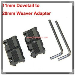 """MTS3025--Hot Sell High Quality hunting rifle Picatinny/W 3/8"""" 11mm Dovetail to 7/8"""" 20mm Weaver Picatinny Rail Adapter Mount"""