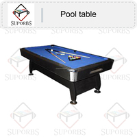 Bar 7ft/8ft/9ft MDF Billiard Table/ Club Pool Table with automatic ball return system,plasitc corner,full accessory P-B3164